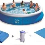 piscina de plástico grande bel-lazer inflável 2