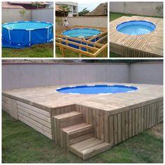piscinas acima do solo